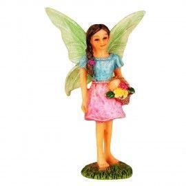 Wonderlnad Miniature Fairy Garden Flower Basket Fairy Statue