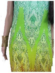 Cotton Fabric Digital Print, Multi Colour, Unstitched Material Kurti Dress Skirt