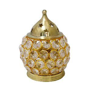 Brass And Crystal Decorative Diya