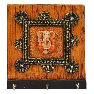 Ganesha 3 Hook Key Holder