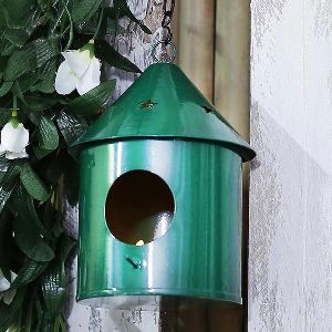 Round Green Bird House