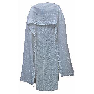 All White Threadwork Cotton Suit