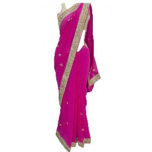 Fuscia Embellished Bollywood Saree