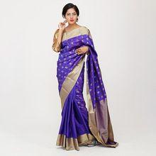 Purple South Silk Saree
