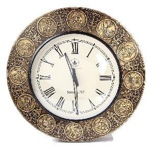 Antique Finish Horoscope Vintage Wall Clock