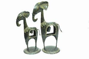 Metal Handicraft Ele With Bell Set