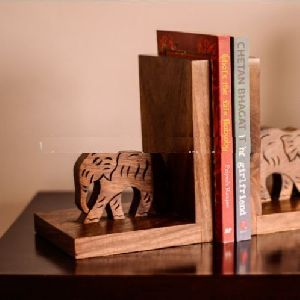 wooden craft Bookends