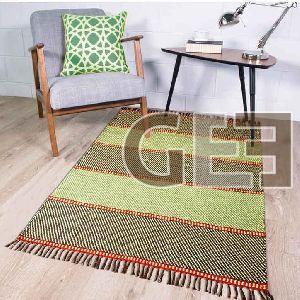 Cotton Handmade Stripe Pattern Cotton Rugs