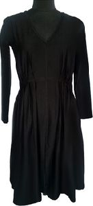 V Neck Maternity Dress With Long Sleeves