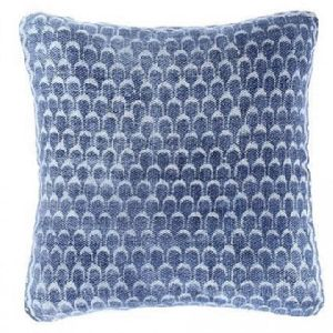 Fancy Washed Indigo Square Decorative Pillow
