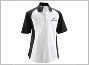 White Black Polo T-shirt