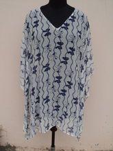 Georgette Printed Womans Wear Mini Kaftan