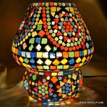 Glass Color Cut Candleholder