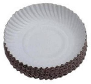 """White Paper Plate 6"""" Size"""