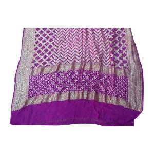 Silk Banarasi Bandhani Nimzari Saree