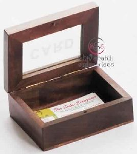 Wooden Box For Cards