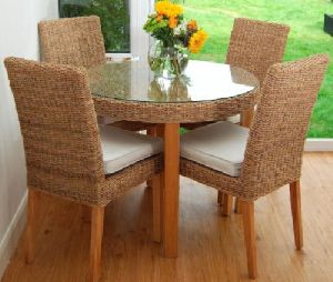 Modern Cane Dining Table