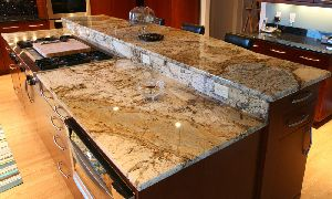 Brown Pearl Granite Slab