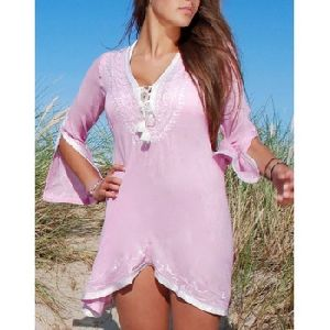 Full Sleeves Rayon Fabric Embellished Womens Summer Tunic