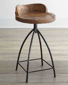 BAR CHAIR WITH MANGO WOOD TOP
