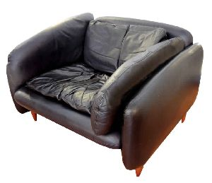 Black Leather Lounge Sofa