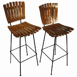 IRON and WOODEN BAR CHAIRS