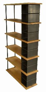Modern Wood Metal Bookshelf