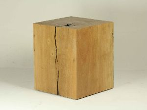 SOLID WOOD CUBE STOOL