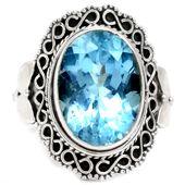 925 Sterling Silver Blue Topaz Jewellery
