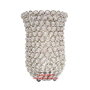 Silver Crystal Votive T-light Holder