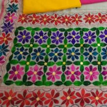 Silk Phulkari Dupatta And Suit