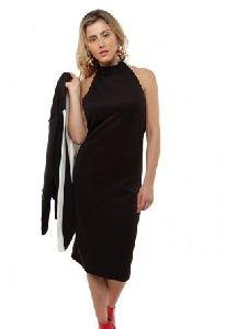 Ladies Black Sleeveless One Piece Dress
