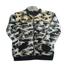 Mens Printed Zipper Sweatshirt