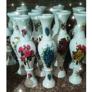 24 Inch White Wooden Flower Pot