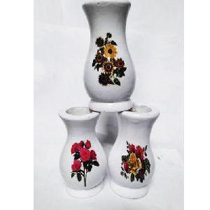 6 Inch Designer Wooden Flower Pot