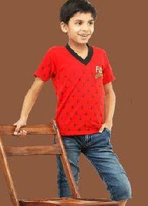 Kids V Neck T Shirt