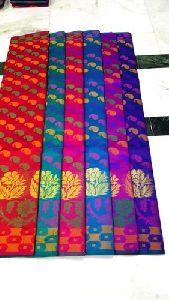Multicolor Dupion Silk Jacquard Patola Saree