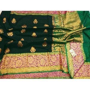 Party Wear Dupion Silk Saree