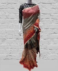 Printed Dupion Silk Saree