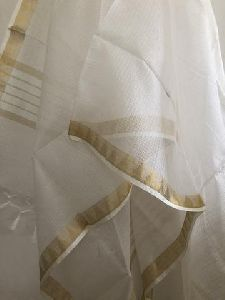 White Plain Pure Kota Silk Dupatta