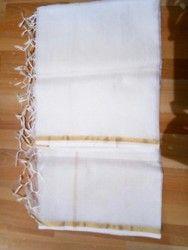 White Pure Kota Silk Dupatta