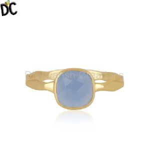 Gold Plated Brass Fashion Gemstone Ring
