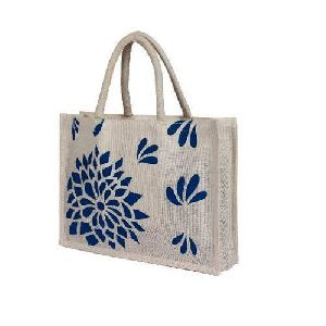 Jute Printed Carry Bag