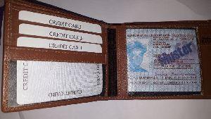 Mens Stripe Leather Wallet