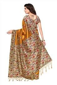 Printed Tussar Silk Sarees