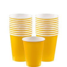 Yellow Paper Cups