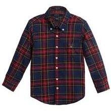 Custom Streetwear Boys Men Casual Check Shirt