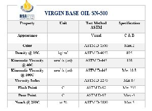 Virgin Base Oil Sn 500