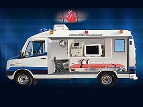Intensive Cardiac Mobile Van Ambulance
