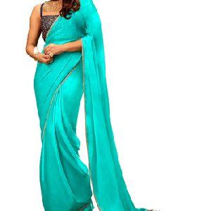Designer Navy Blue Color Bridal Wedding Saree